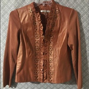 Jackets & Blazers - Peter Nygard studded leather jacket
